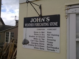 Johns Weather Forecasting Stone at Porthallow