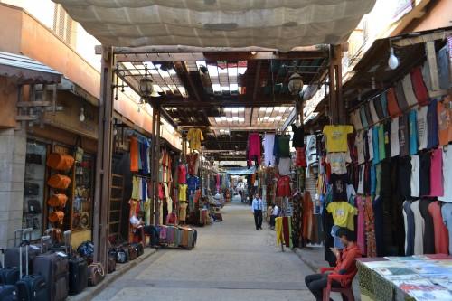 Meio do souk em Luxor