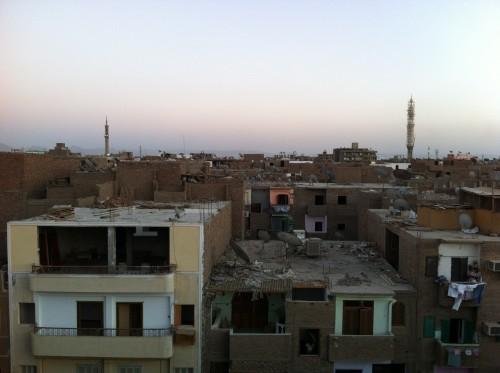 Vista do albergue em Luxor
