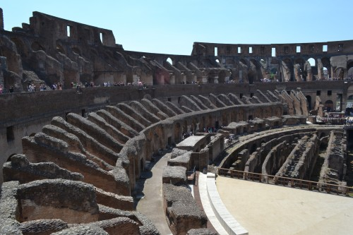 Clichê, mas tínhamos que entrar no Coliseu :-)