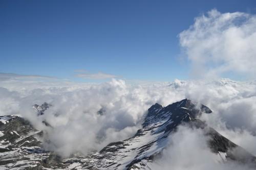 Do alto da Schilthorn, num dos 5 minutos de céu aberto, mas lindo
