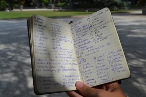 Caderninho mágico dos números, note a mudança de lugares