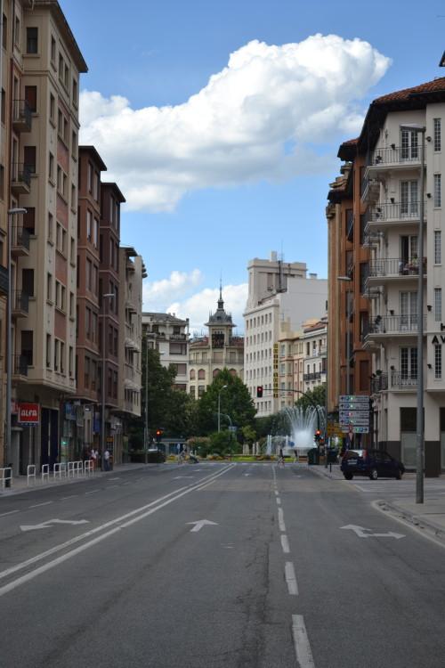Invasão de nuvem em Pamplona