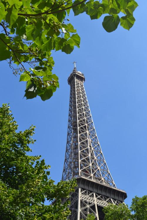 Uma pose incomum da Torre Eiffel :-)
