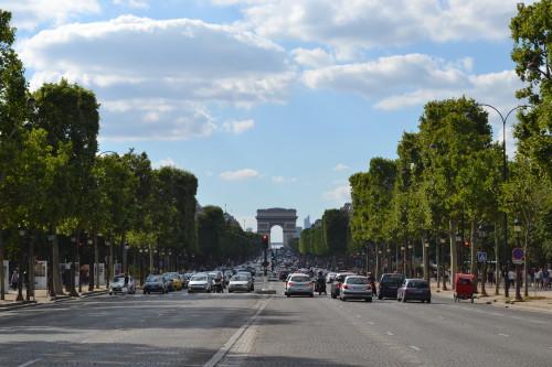 Champs-Élysées com o arco lá no alto