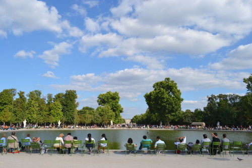 Dia preguiçoso no Jardin des Tuileries