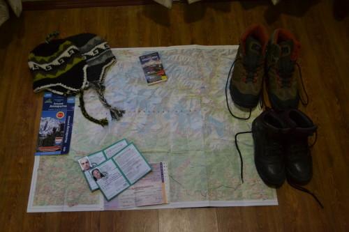 Burocracia resolvida, mapa e botas à postos!