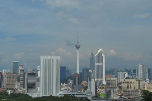Kuala Lumpur do alto da torre do planetário