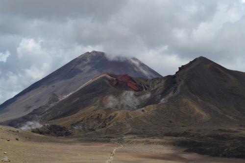 Trilha de formigas descendo a Cratera Vermelha