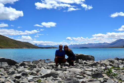 Lake Taupo, na Nova Zelândia