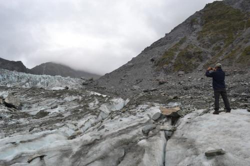 """Na borda do gelo com a """"trim line"""" pra fazer um vídeo"""
