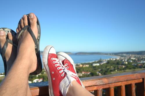 Curtindo o descanso e a vista em Plettenberg Bay,  África do Sul