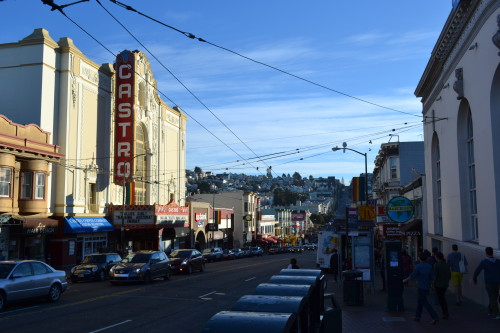 The Castro Theater, na rua principal do Castro