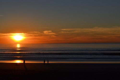 Pôr-do-sol na Ocean Beach, nada mal hein Califórnia!