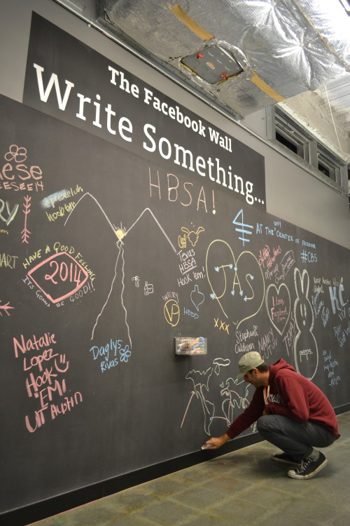 Fizemos o mapa da RTW no The Wall original do Facebook :-)