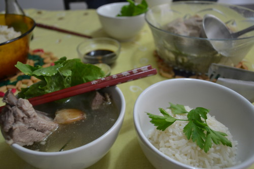 Bah kuh teh: sopa de costela de porco